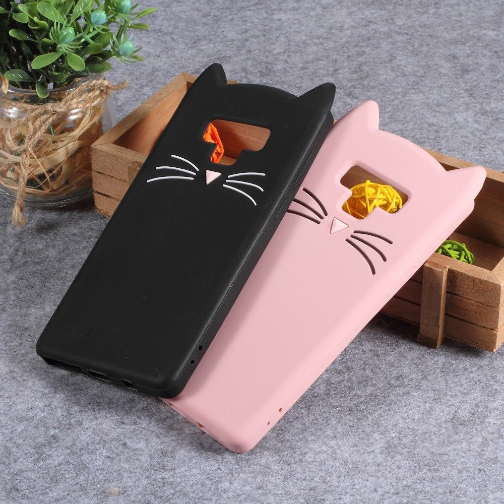 Силиконовый (TPU) чехол Deexe Cat 3D Series для Samsung Galaxy Note 9  (N960) - White