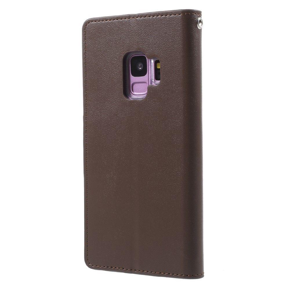 Mercury Sonata Diary Samsung Galaxy S9 G960 Goospery Note 5 Bravo Case Wine Red Brown
