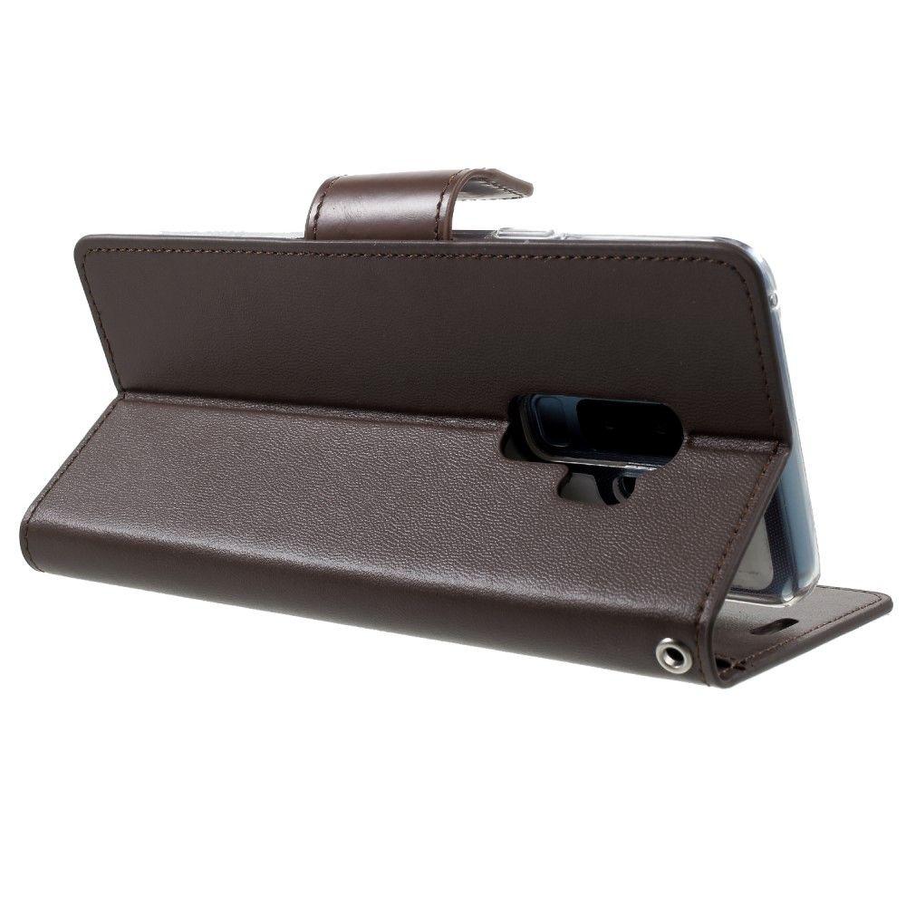 Mercury Sonata Diary Samsung Galaxy S9 G965 Goospery Fancy Case Black Brown