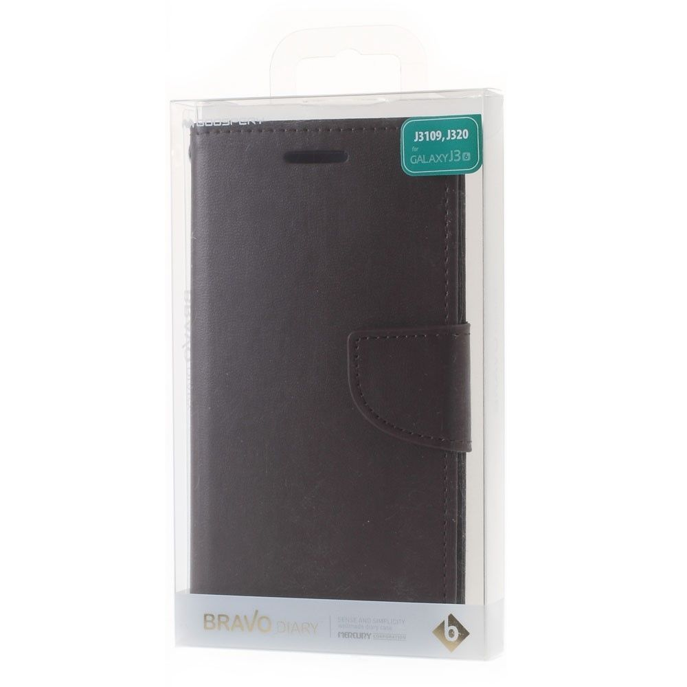 Mercury Bravo Diary Samsung Galaxy J3 2016 Dark Goospery Note 5 Case Wine Red Brown