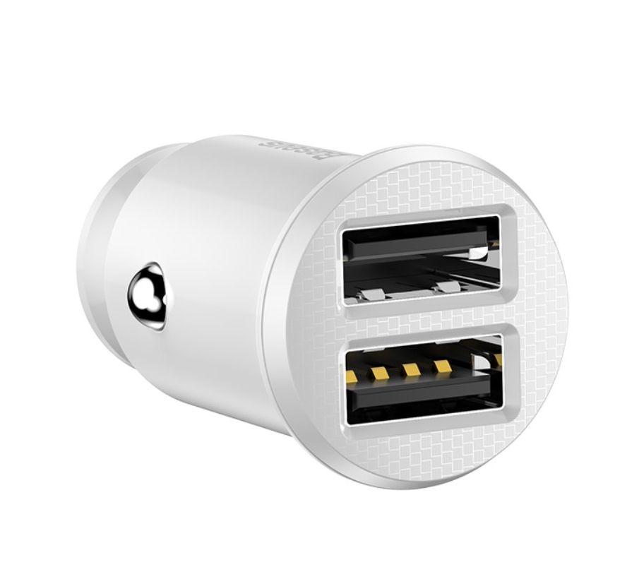 ᐉ автомобильное зарядное устройство Baseus Grain Mini 31a Dual Usb