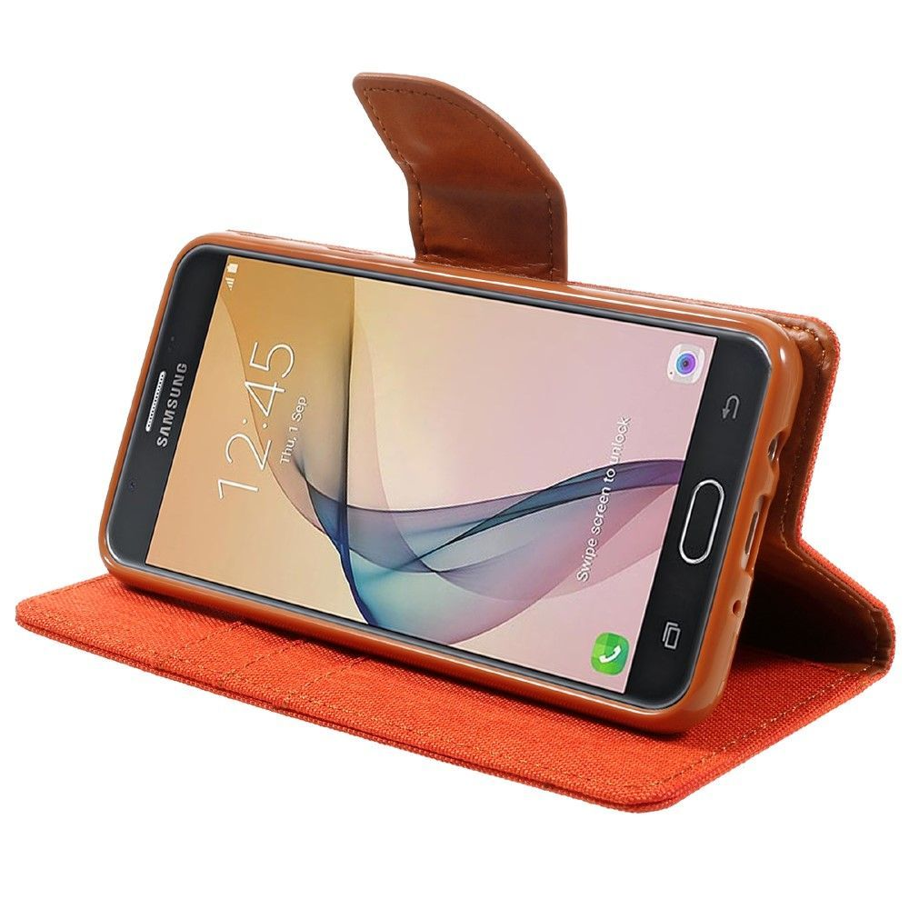Mercury Canvas Diary Samsung Galaxy J5 Prime Orange Goospery 2016 Case