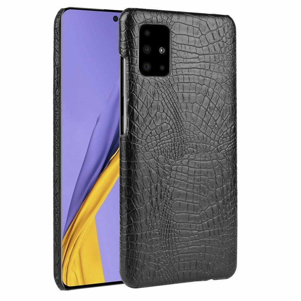ᐉ защитный чехол Deexe Croco Style для Samsung Galaxy A71 A715 Black купить цена смотреть отзывы обзор Galaxy Store